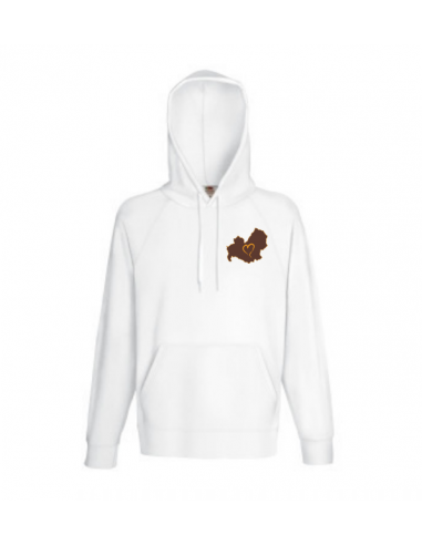 Sweatshirt with hood Man embroidered Love Molise